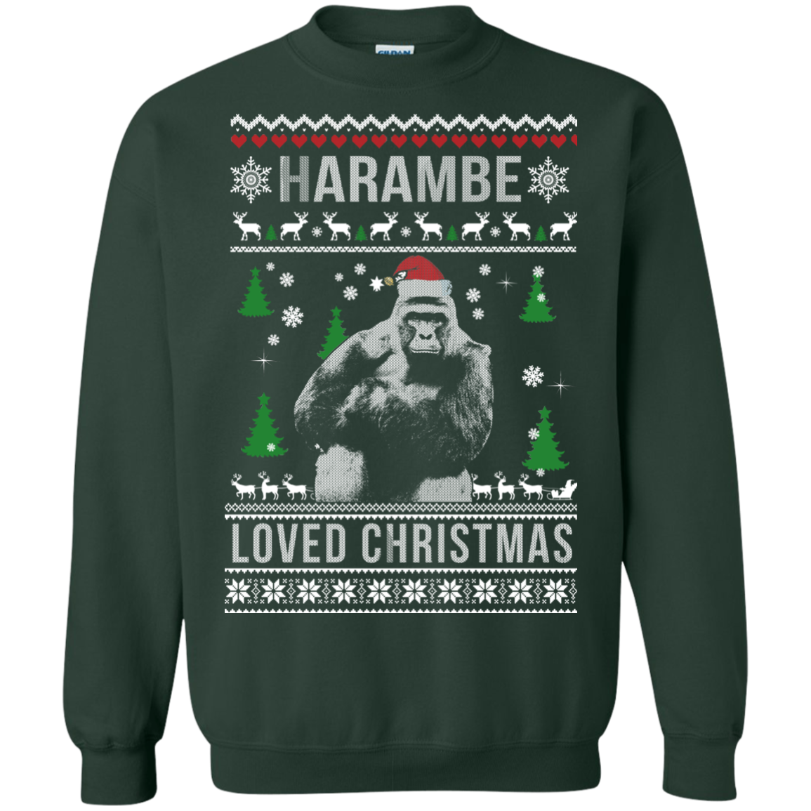 harambe loved christmas sweater t shirt long sleeve