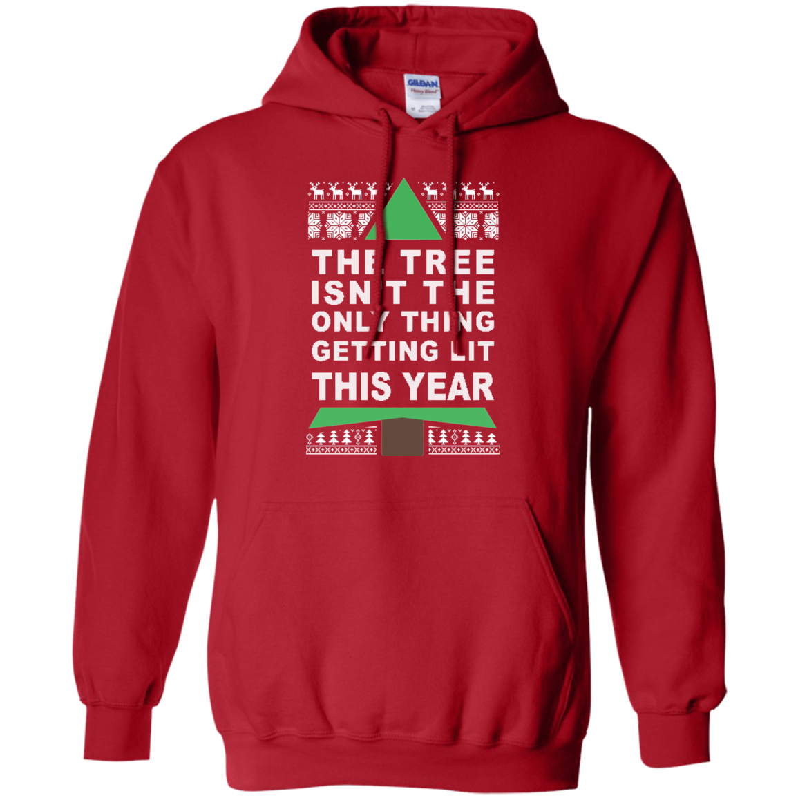 the tree isnt the only thing getting lit this year christmas sweater tshirt