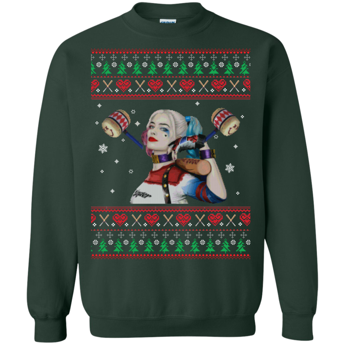 harley quinn unisex christmas sweater tshirt hoodie