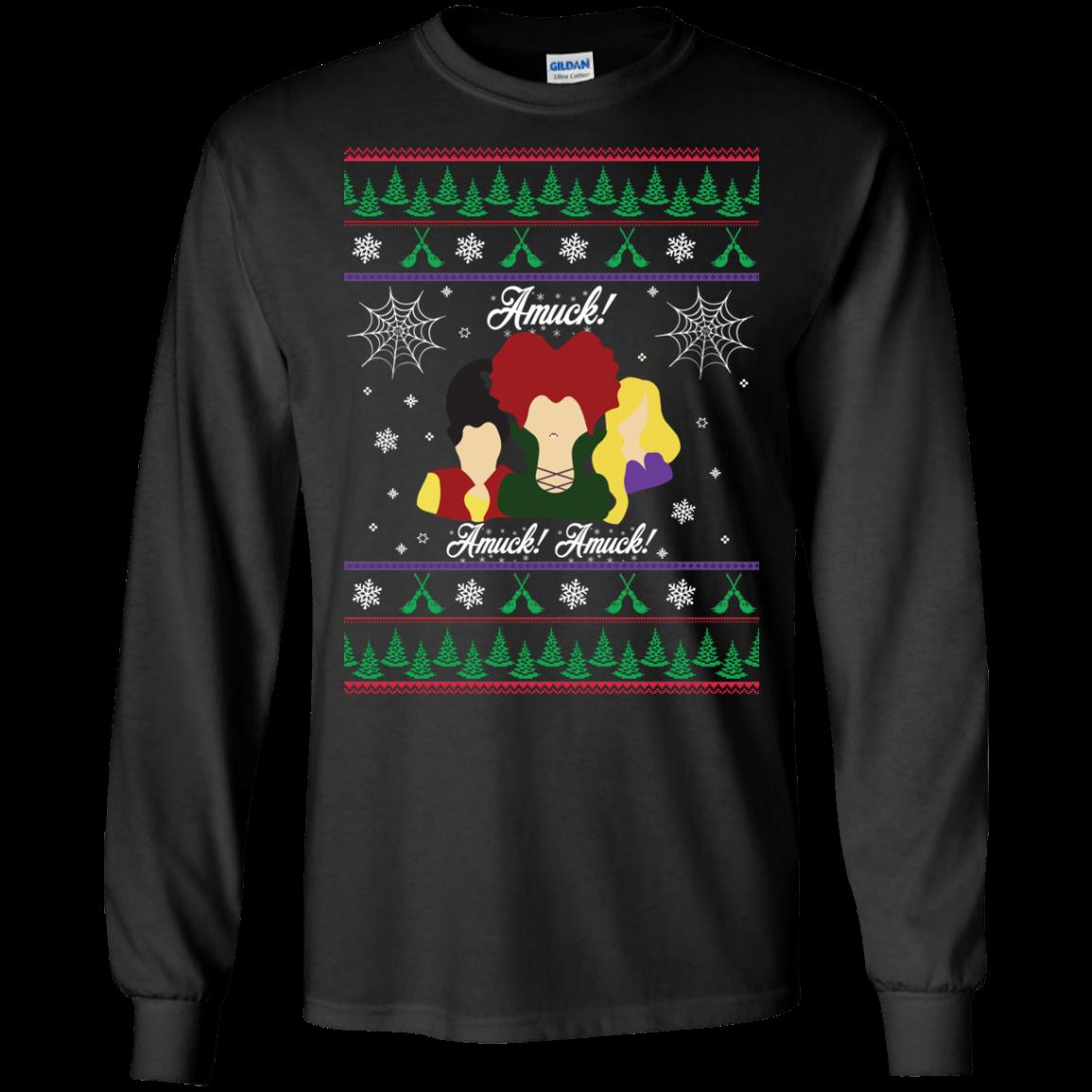 Dan And Phil Christmas Sweater.Hocus Pocus Amuck Halloween Christmas Sweater Tshirt