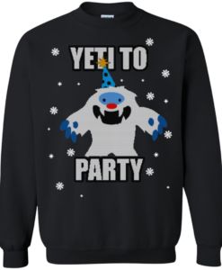 Yeti To Party Christmas Sweater, Long Sleeve, Hoodie