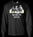 Beetlejuice Edward Jack: Tim Burton You can't sit with us tshirt, tank, hoodie