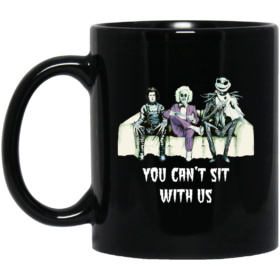 Halloween: Tim Burton You can't sit with us coffee mugs