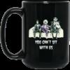 Halloween: Tim Burton You can't sit with us coffee mugs