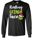 Christmas: Resting Grinch Face tshirt, sweater, tank