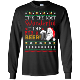 Christmas: Its The Most Wonderful Time For A Beer Sweater, Tshirt, Tank