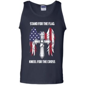 Stand for the flag Kneel for the cross tshirt, tank, hoodie