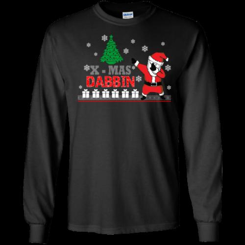 Christmas: Xmas Dabbin Santa sweater, tshirt, long sleeve