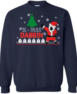 Christmas: Xmas Dabbin Santa sweater, tshirt, long sleeve