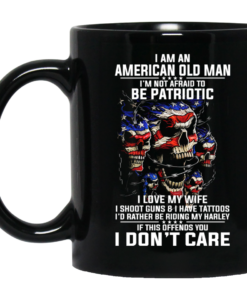 I Am An American Old Man I'm Not Afraid To Be Patroptic Coffee Mugs