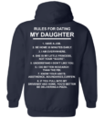 Funny shirt Rules for Dating My Daughter t shirt, tank, hoodie