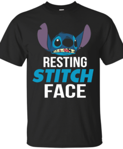 Resting Stitch Face Tshirt, Tank, Hoodie