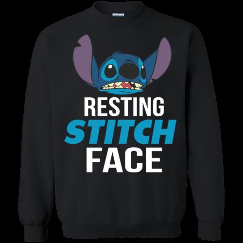 Resting Stitch Face Tshirt, Tank, Hoodie