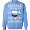 Rick and Morty Christmas Sweater: I Turned My Self Into Christmas Sweater Morty