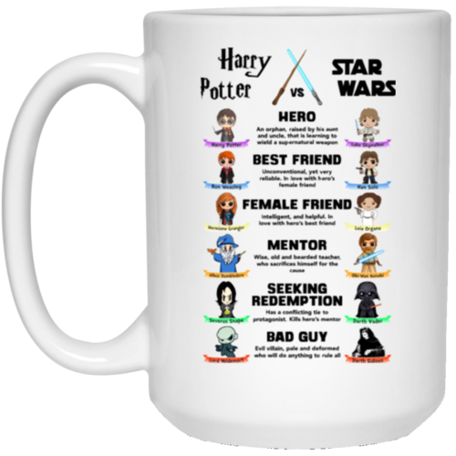 Harry Potter vs Star Wars Coffee Mugs