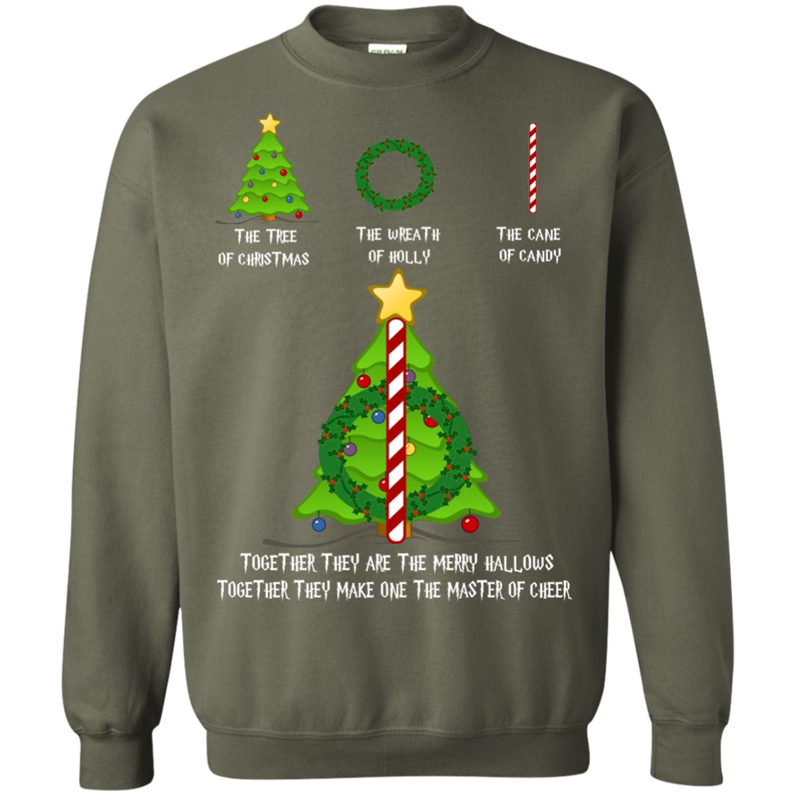 Christmas Sweater The Tree Of Christmas The Wreath Of Holly The