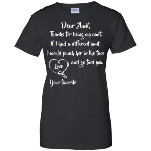 Auntie shirt: Thanks for being my aunt tshirt, sweater, tank