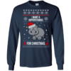 I Want A Hippopotamus For Christmas Sweater, Tshirt, Long Sleeve