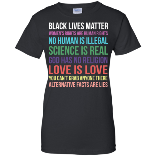 Black lives matter women's rights are human rights tshirt, tank
