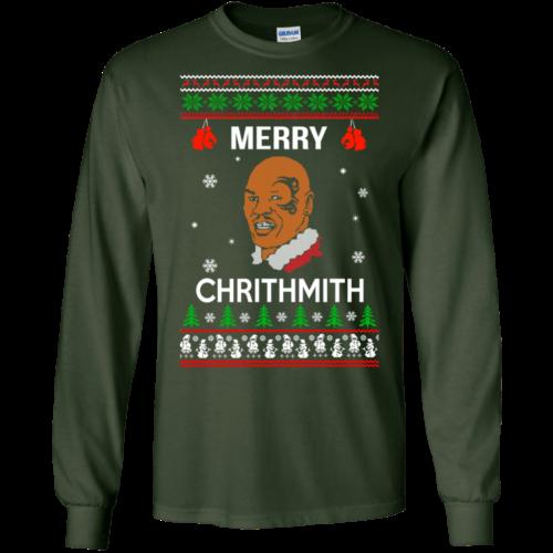 Mike Tyson Merry Chrithmith Christmas Sweater, Tshirt, Long Sleeve