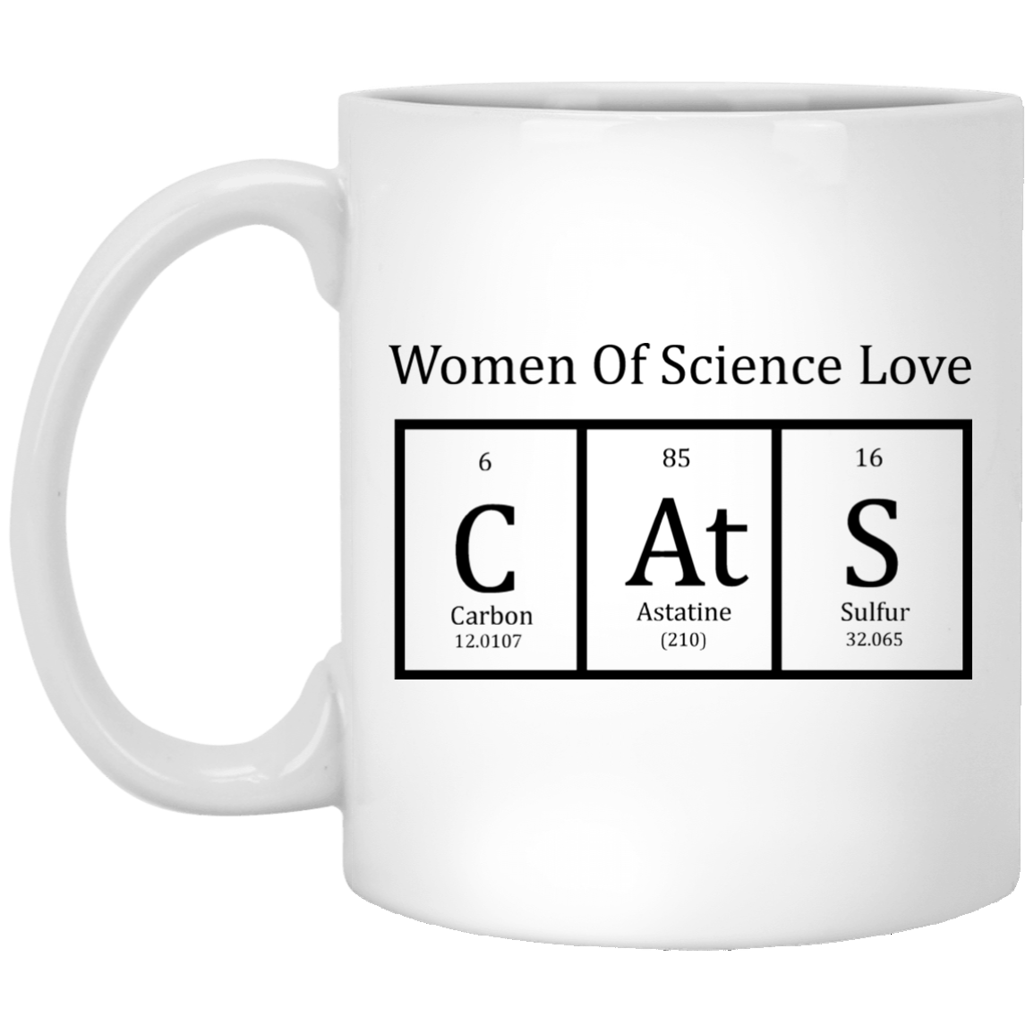 Cat Periodic Table Women Of Science Coffee Mug