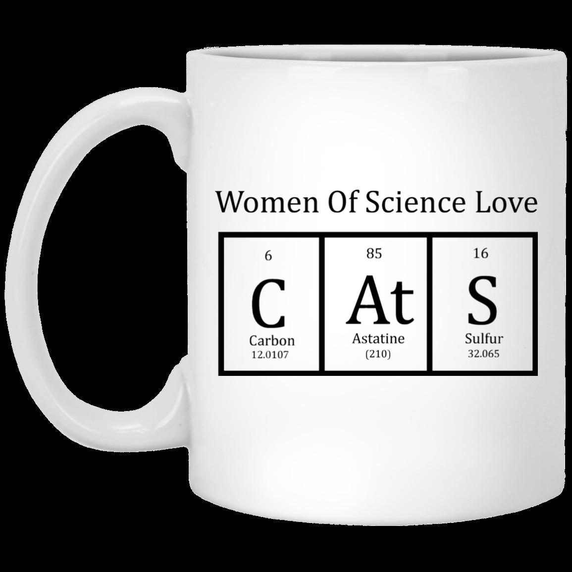Cat periodic table women of science coffee mug robinplacefabrics cat periodic table women of science coffee mug urtaz Choice Image