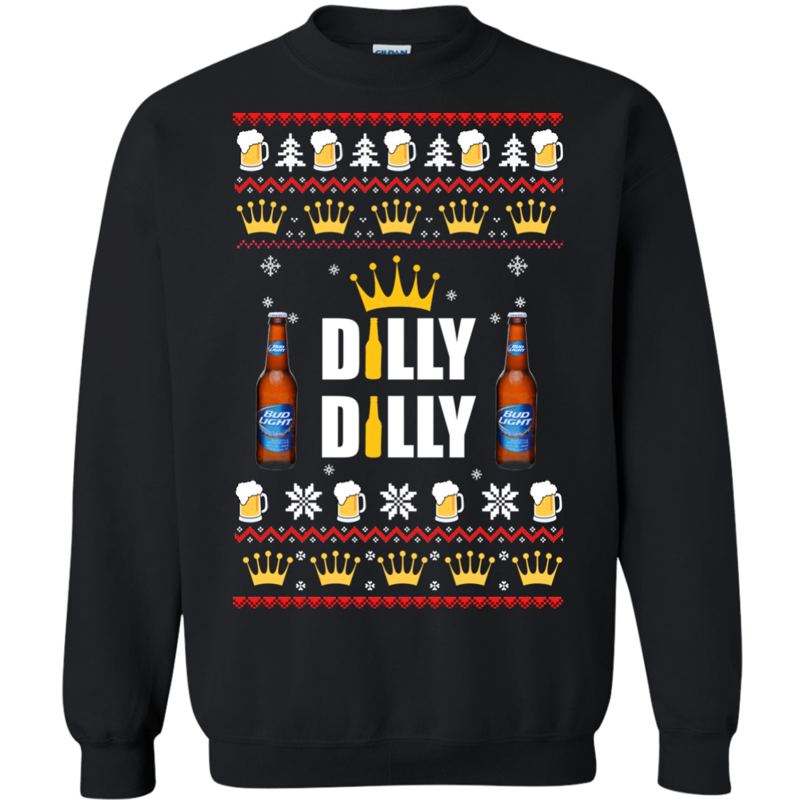 d3912b18 Bud Light: Dilly Dilly Christmas Sweater - RobinPlaceFabrics