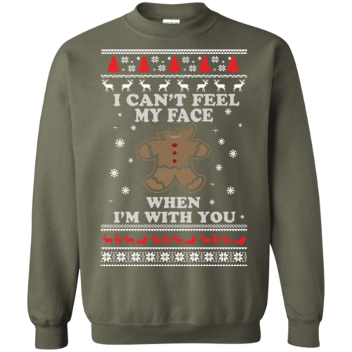Gingerbread Christmas Sweater – I Can't Feel My Face Shirt