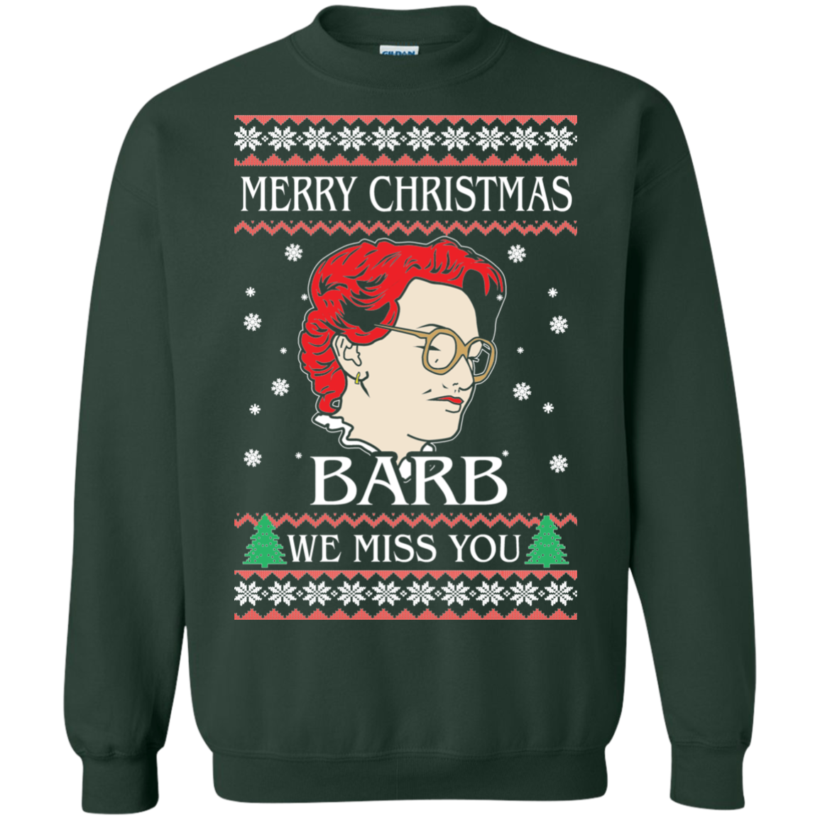 Merry Christmas Barb We Miss You - Christmas Sweater - RobinPlaceFabrics