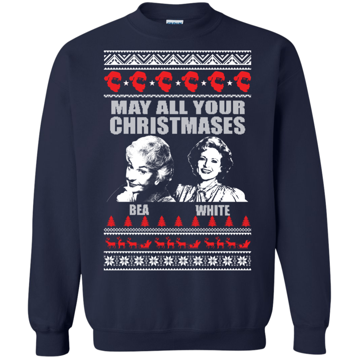 Blue And White Christmas Sweater.Golden Girl Christmas May All Your Christmases Bea White Christmas Sweater