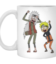 Rick and Morty Naruto and Jiraiya Coffee Mugs