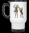 Rick and Morty Naruto and Jiraiya Coffee Mugs