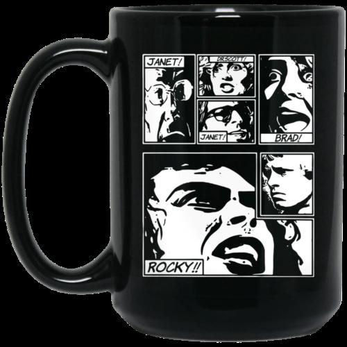 Janet Dr Scott Janet Brad Rocky Coffee Mugs
