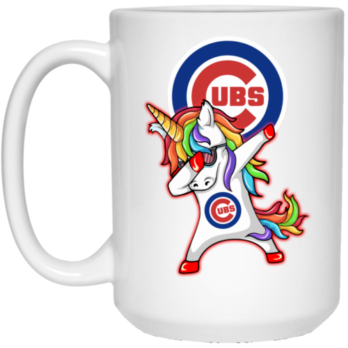 Chicago Cubs Unicorn Dabbing Cofee Mugs