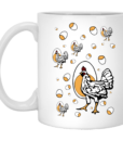 Retro Roseanne Chickens Coffee Mugs