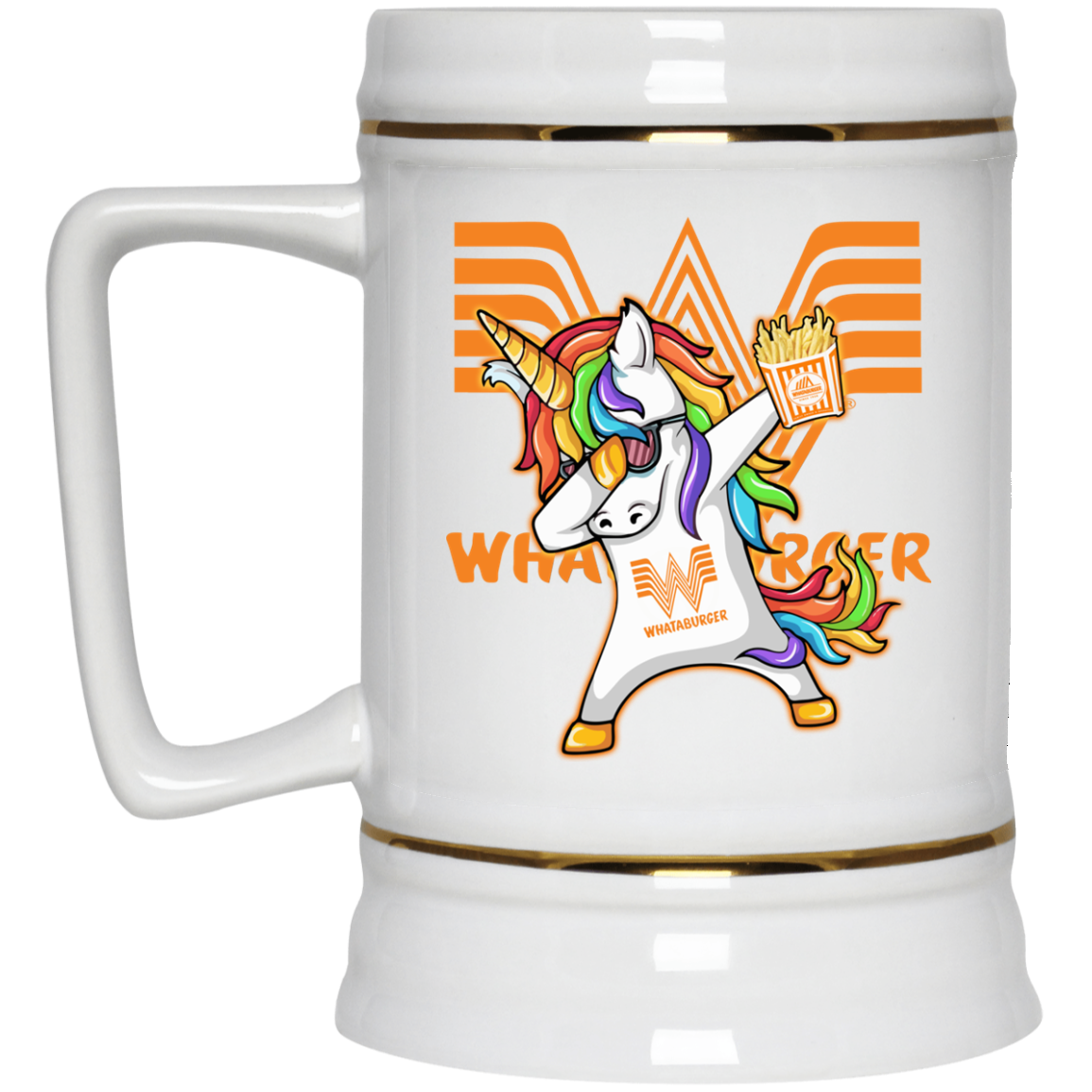 Unicorn Dabbing - Whataburger Coffee Mugs - RobinPlaceFabrics