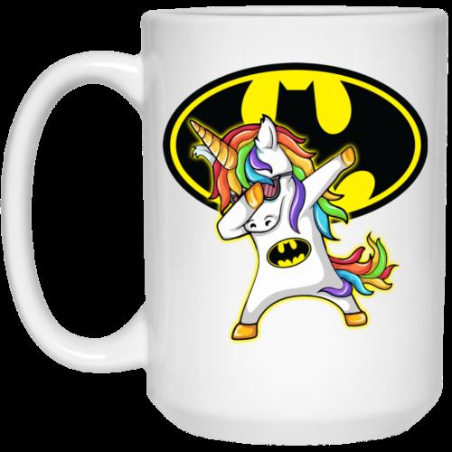 Batman Unicorn Dabbing Coffee Mugs
