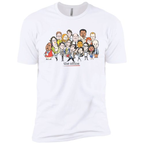 The Office Cartoons Character t shirt, long sleeve, hoodie