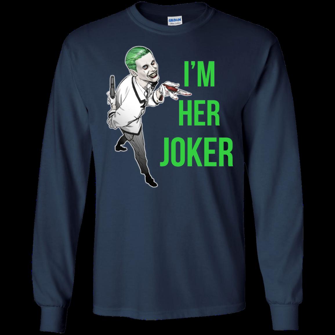 1fe83e2a Her Joker - His Harley Quinn t shirt, long sleeve, hoodie ...