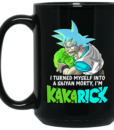 I'm Kakarick I turned myself into a saiyan Morty coffee mugs