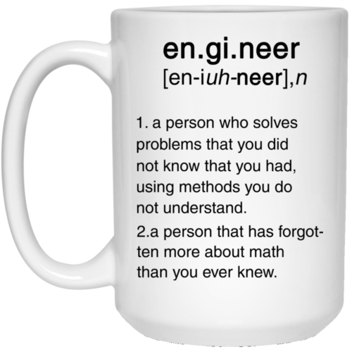 Engineer Definition Funny Mugs