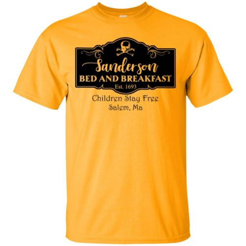 Sanderson bed and breakfast est 1693 children stay free salem ma t shirt