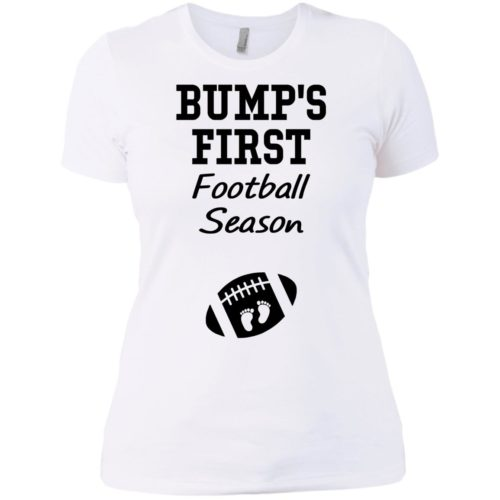 Bump's first football season t shirt, tank
