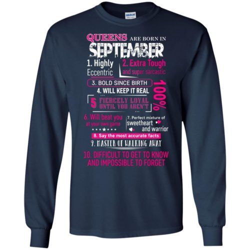10 Reasons Queens are born in September t shirt, tank, hoodie