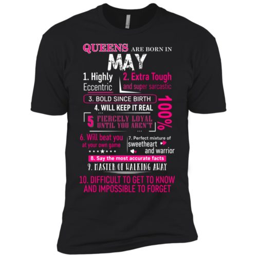 10 Reasons Queens are born in May t shirt, tank, hoodie