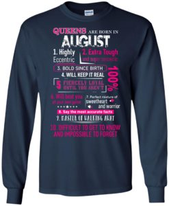 62dcfa12d51fbe 10 Reasons Queens are born in August t shirt, tank, hoodie ...