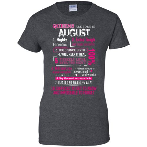 10 Reasons Queens are born in August t shirt, tank, hoodie