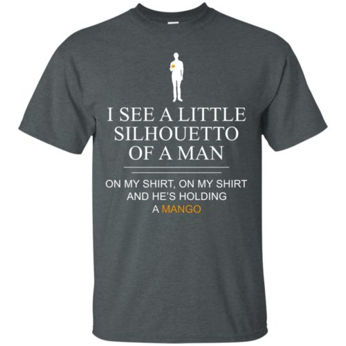 I see a little silhouetto of a man with mango t shirt, tank top, hoodie
