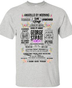 bbd99c0b George Strait: Amarillo by morning t shirt, tank, hoodie ...