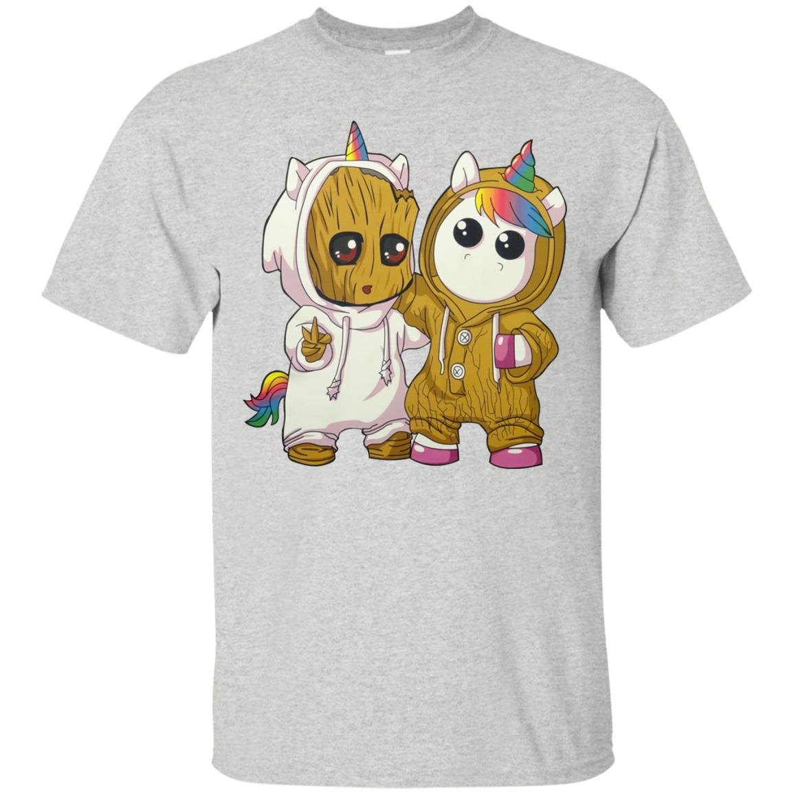 c79d520fc56098 Baby groot and baby unicorn shirt - RobinPlaceFabrics